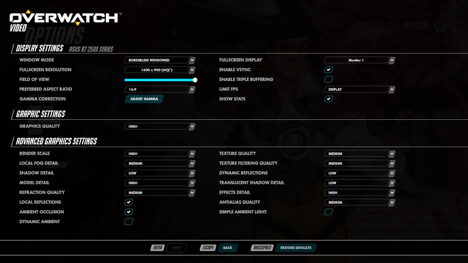 overwatch grafikai beállítások